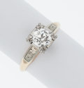 Estate Jewelry:Rings, White Sapphire, Gold Ring. ...