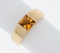 Estate Jewelry:Rings, Citrine Gold Ring, Cartier. ...
