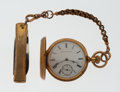 Timepieces:Pocket (post 1900), Waltham 18k Gold Pocket Watch With Pen Knife. ...