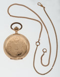 Timepieces:Pocket (post 1900), French 14k Gold Hunter's Case Pocket Watch. ...
