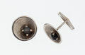 Estate Jewelry:Cufflinks, Star Sapphire, White Gold Cuff Links. ...