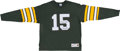 Football Collectibles:Uniforms, Bart Starr Signed Green Bay Packers Throwback Jersey....