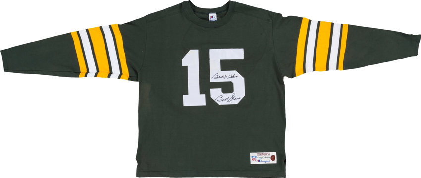 new styles a1674 f9ccd Bart Starr Signed Green Bay Packers Throwback Jersey ...