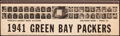 """Football Collectibles:Others, 1941 Green Bay Packers """"World's Largest Book of Matches"""" Piece...."""