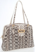 Luxury Accessories:Bags, Jimmy Choo Natural Snakeskin Shoulder Bag. ...