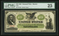 Large Size:Demand Notes, Fr. 8 $10 1861 Demand Note PMG Very Fine 25.. ...