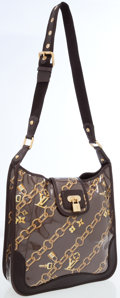 Luxury Accessories:Bags, Louis Vuitton Limited Edition Monogram Charms Silk & VinylMusette Crossbody Bag. ...