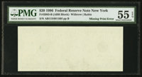 Fr. 2083-B $20 1996 Federal Reserve Note. PMG About Uncirculated 55 EPQ