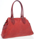 Luxury Accessories:Bags, Fendi Red Distressed Lambskin Leather De Jour Bag. ...