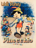 "Movie Posters:Animation, Pinocchio (Walt Disney Productions, R-1964). French Grande (47"" X 67"").. ..."