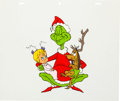 Animation Art:Production Cel, Dr. Seuss' How the Grinch Stole Christmas Grinch, Max, andCindy Lou Who Publicity Cel and Production Drawing (MGM, 19...(Total: 2 Items)