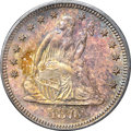 Seated Quarters, 1876-S 25C MS64 NGC....