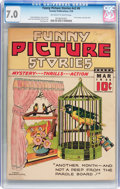 Golden Age (1938-1955):Miscellaneous, Funny Picture Stories V2#6 (Centaur Publishing, 1938) CGC FN/VF 7.0 Off-white to white pages....