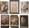 American Indian Art:Photographs, SIX INDIAN STUDIO PORTRAITS, CABINET CARDS BY VARIOUSPHOTOGRAPHERS... (Total: 6 )