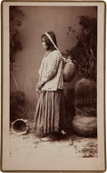 "American Indian Art:Photographs, ""WATER CARRIER,"" BOUDOIR PHOTO BY A. FRANK RANDALL, WILCOX, ARIZONA TERRITORY..."