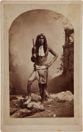 American Indian Art:Photographs, APACHE WARRIOR, BOUDOIR PHOTO BY HENRY BUEHMAN AND COMPANY...