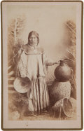 "American Indian Art:Photographs, ""APACHE INDIAN MAIDEN"" (NA-TU-ENDE), BOUDOIR PHOTO BY A. FRANKRANDALL, WILCOX, ARIZONA TERRITORY..."