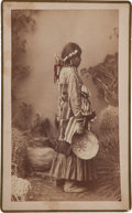 "American Indian Art:Photographs, ""CHIRICAHUA PRINCES,"" BOUDOIR PHOTO BY A. FRANK RANDALL, WILCOX, ARIZONA TERRITORY..."