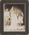 American Indian Art:Photographs, CALEB CARTER AND WIFE, JULIA - NEZ PERCE, GELATIN PRINT,PHOTOGRAPHER UNKNOWN...