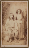 "American Indian Art:Photographs, ""ZE-LE - CHIRICAHUA APACHE CHIEF AND WIFE, TZES-TONE,"" BOUDOIRPHOTO BY BEN WITTICK, ALBUQUERQUE, NEW MEXICO..."