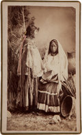 "American Indian Art:Photographs, ""WHITE MOUNTAIN SQUAWS,"" BOUDOIR PHOTO BY A. FRANK RANDALL, WILCOX,ARIZONA TERRITORY..."