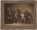 American Indian Art:Photographs, KANSA INDIAN DELEGATION IN WASHINGTON, DC, PHOTOGRAPH BY CHARLES M.BELL...