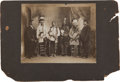 American Indian Art:Photographs, REVEREND G. BRINDEL AND PAWNEE INDIANS, GELATIN PRINT MOUNTED ONBOARD, PHOTOGRAPHER UNKNOWN...