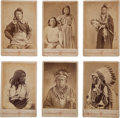 American Indian Art:Photographs, SIX DEPARTMENT OF THE INTERIOR STUDIO PORTRAITS, CABINET CARDS,VARIOUS PHOTOGRAPHERS... (Total: 6 Items)