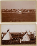 American Indian Art:Photographs, TWO CAMP SCENES, BOUDOIR PHOTOS BY C.C. STOTZ, EL RENO, OKLAHOMATERRITORY... (Total: 2 )