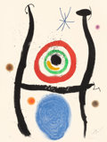 Prints:Contemporary, JOAN MIRÓ (Spanish, 1893-1983). Le Bleu de la Cible, 1974.Etching and aquatint in colors with carborundum. 26 x 19-3/4 ...