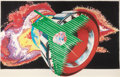 Prints, JAMES ROSENQUIST (American, b. 1933). Space Dust, 1989. Colored pressed paper pulp, lithographic collage. 66-1/2 x 105-1...