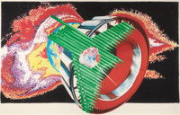 JAMES ROSENQUIST (American, b. 1933) Space Dust, 1989 Colored pressed paper pulp, lithographic colla