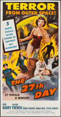 """Movie Posters:Science Fiction, The 27th Day (Columbia, 1957). Three Sheet (41"""" X 79""""). ScienceFiction.. ..."""