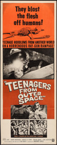 "Movie Posters:Science Fiction, Teenagers from Outer Space (Warner Brothers, 1959). Insert (14"" X36""). Science Fiction.. ..."