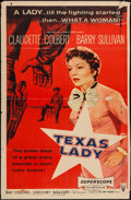"Movie Posters:Western, Texas Lady (RKO, 1955). Trimmed One Sheet (26.5"" X 41""). Western.. ..."