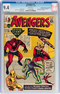Silver Age (1956-1969):Superhero, The Avengers #2 Don/Maggie Thompson Collection pedigree (Marvel, 1963) CGC NM 9.4 White pages....