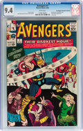Silver Age (1956-1969):Superhero, The Avengers #7 Don/Maggie Thompson Collection pedigree (Marvel, 1964) CGC NM 9.4 White pages....