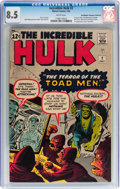Silver Age (1956-1969):Superhero, The Incredible Hulk #2 Don/Maggie Thompson Collection pedigree(Marvel, 1962) CGC VF+ 8.5 White pages....