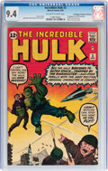 Silver Age (1956-1969):Superhero, The Incredible Hulk #3 Don/Maggie Thompson Collection pedigree(Marvel, 1962) CGC NM 9.4 Off-white to white pages....