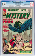 Silver Age (1956-1969):Science Fiction, Journey Into Mystery #101 Don/Maggie Thompson Collection pedigree(Marvel, 1964) CGC NM 9.4 Off-white to white pages....