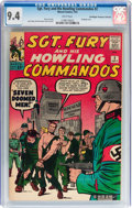 Silver Age (1956-1969):War, Sgt. Fury and His Howling Commandos #2 Don/Maggie Thompson Collection pedigree (Marvel, 1963) CGC NM 9.4 White pages....