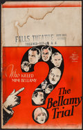 """Movie Posters:Crime, The Bellamy Trial (MGM, 1929). Window Card (14"""" X 22""""). Crime.. ..."""
