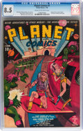 Golden Age (1938-1955):Science Fiction, Planet Comics #1 (Fiction House, 1940) CGC VF+ 8.5 Cream tooff-white pages....