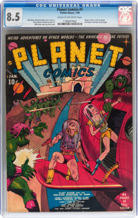 Planet Comics #1 (Fiction House, 1940) CGC VF+ 8.5 Cream to off-white pages