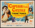 "Movie Posters:Adventure, Captain from Castile (20th Century Fox, 1947). Half Sheet (22"" X28""). Adventure.. ..."