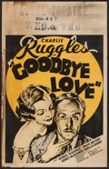 "Movie Posters:Comedy, Goodbye Love (RKO, 1934). Window Card (14"" X 22""). Comedy.. ..."