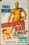 "Movie Posters:Adventure, Hudson's Bay (20th Century Fox, 1941). One Sheet (27"" X 41"") StyleB. Adventure.. ..."