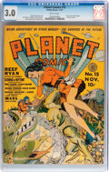 Golden Age (1938-1955):Science Fiction, Planet Comics #15 (Fiction House, 1941) CGC GD/VG 3.0 Brittlepages....