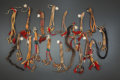 American Indian Art:Beadwork and Quillwork, A GROUP OF ARAPAHO TIPI ORNAMENTS. c. 1875 ... (Total: 17 Items)