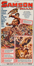 "Movie Posters:Adventure, Samson and Delilah (Paramount, R-1959). Three Sheet (41"" X 79"").Adventure.. ..."